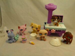 Lot of 6 Littlest Pet Shop Toys & Accessories Hermit Crab Dogs Cat Panda #10
