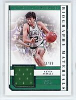 2018-19 Kevin Mchale 73/99 Jersey Panini National Treasures Biography Materials