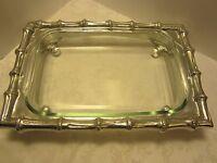 "Aluminum Mariposa Brillante 17"" Caddy w/ Pyrex Glass Bamboo # 942 casserole dish"