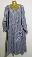 Plus Size 30-32 Gorgeous Grey Quirky Dress with Pocket to fit Size 5XL