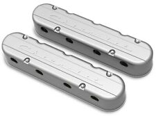 "Holley 241-175 2-PC ""Chevrolet"" Script Natural Finish LS Chevy Valve Covers LSX"