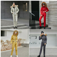 Women Ski Suit Winter Tracksuit Overall Outdoor One Piece Jumpsuits Skitsuit