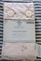 Rachel Ashwell Simply Shabby Chic Tiny Pink Rose Buds Standard Pillowcases Set/2