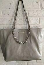 Michael Kors Harper Shopper Tote Heather Grey Leather Medium Shoulder Purse Bag