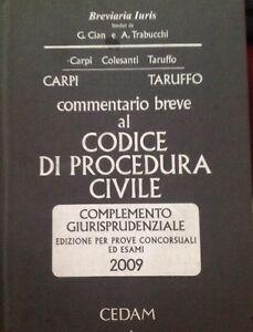 Commentario Breve al Codice di Procedura Civile Giurisprudenziale 2009 CEDAM