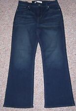 LEVI'S Blue Denim 512 Bootcut Perfectly Slimming Jeans Size 10PS Petite Short