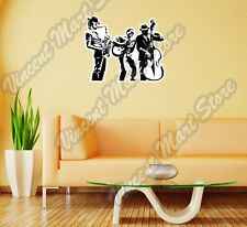 "Jazz Band Blues Swing Bebop Music Wall Sticker Room Interior Decor 25""X20"""