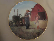 Daddy'S Little Helper collector plate Emmett Kaye Farming the Heartland Tractor