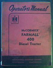 International Harvester Farmall 400 Diesel Tractor Operators Manual
