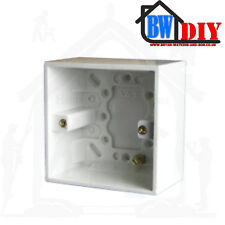 1G & 2G White Moulded Plastic Pattress Boxes Architrave,Switch & Back Box BS