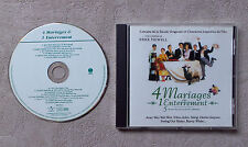 "CD AUDIOMUSIQUE INT/ VARIOUS ""4 MARIAGE & 1 ENTERREMENT"" CD COMPILATION 14T 1995"