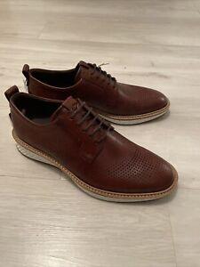 ECCO ST.1 Hybrid Mens Formal Work Leather Shoes - Cognac - 7.5UK