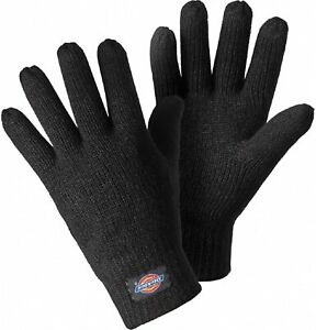 Dickies Thinsulate Thermal Winter Gloves Unisex 3M Black Warm Knitted One Size