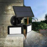 48LED Waterproof Dual Head Solar Power Light Radar Sensor Outdoor Yard Wall Lamp