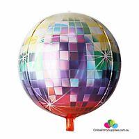 "22"" Jumbo Ombre ORBZ Sphere Metallic Disco Ball Foil Balloon"
