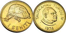 elf Tonga 1 Seniti 1974 King  Giant Tortoise