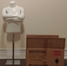BERNSTEIN Kids 1/2 Mannequin  Girl Size 10-12 Fiberglass Gloss White Square Base