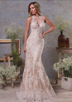 c103New White/ivory lace  Wedding dress Bridal Gown custom size2 4 6 8 10++