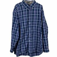 Tommy Hilfiger Button Down Shirt Mens XL 80's 2 Ply Fabric Long Sleeve Plaid