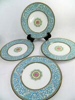 Wedgwood Bone China Praze Turquoise Luncheon Salad Plates Set Of 4 Rare Mark Q2
