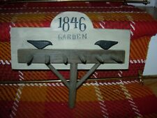 """Faux Wood Rake With 6 Tines For Hanging-11 1/2"""" X 9 1/2""""-""""1846 Garden""""-#B40"""
