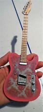 Fender Pink Paisley Telecaster 1:4 Scale Replica Guitar ~Axe Heaven