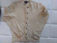 Ralph Lauren Wool Angora Cream Ivory White Button Down Cardigan Sweater Size M