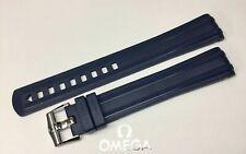 Omega Original Seamaster 20mm Blue Rubber Strap & Buckle Ref-CVZ010485/STZ010129