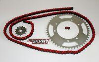 Kit Chaine Renforcé 13x53 Rouge Derbi Senda 50 R X-treme 2000 à 2011