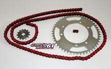 Kit Chaine Renforcé 12x53 Rouge Derbi Senda 50 R+SM X-Race 2000 à 2011