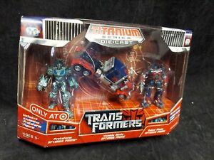 Optimus Prime 3 Pack Target Exclusive TRANSFORMERS Titanium Series Die Cast