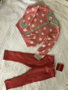 New Polarn O. Pyret Cardigan and Hanna Andersson Leggings sz 80 18-24 2 years