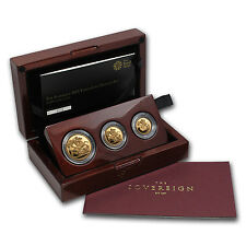 2015 Great Britain 3-Coin Gold Sovereign Premium Proof Set - SKU #86710