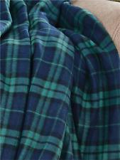 Auto Picnic Fleece Throw Blanket on the go Blue Plaid w/carry case 68x86 NIP