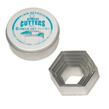 Ateco Stainless Steel Hexagon Cutter, 6 Pcs - 5251