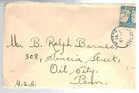 1931 Dublin Ireland Cover to Oil City PA USA