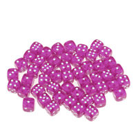 50 Pack of D6 Dotted Dice Round Corner for Kids Building Blocks Gifts Purple