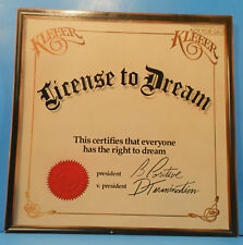 KLEEER LICENSE TO DREAM LP 1981 ORIGINAL PROMO GREAT CONDITION! VG++/VG+!!A