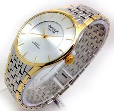 079Q Men's Business Luxury Wrist Watch Silver & Gold Strap Stylish Dial Quartz