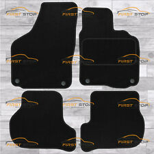 SKODA OCTAVIA 2008-2013 OVAL CLIPS FULLY TAILORED CLASSIC CAR FLOOR MATS BLACK