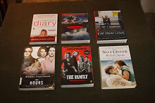 Lot of 6 Movie Tie-In TPB's - Paperboy, Family, Notebook, Hours, Diary, Eat Pray