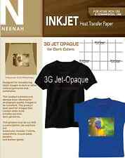"Neenah 3G Jet Opaque Dark Transfer Paper 8.5"" x 11"" (100 Sheets)"