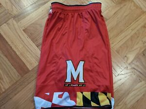 NWT UNDER ARMOUR MARYLAND TERRAPINS BASKETBALL GAME SHORTS sz L LARGE curry