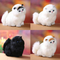 Simulation Cat Plush Toy Cute Animal Doll Sound Decor Gift Boys Girls Christmas