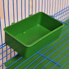 Plastic Green Parrot Bird Bath Clean Box Feeding Food Water Box Bathtub Pet Toys