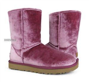 UGG Classic Short II Velvet Bougainvillea Fur Boots Womens Size 9 *NIB*