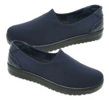 Womens Navy Flexi Sole Comfort Fit Hospital Careers Work Causal Shoes Sizes 3-8