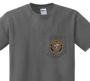 Pocket t-shirt men's US Navy design front pocket tee for men dark gray shirt