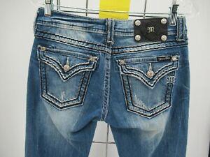 L8213 VTG Women's Miss Me Bootcut Denim Jeans Size 27