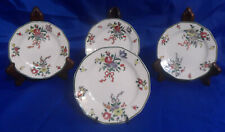Royal Doulton Old Leeds Spray #D3548 Small Bread & Butter Plates - Set of 4